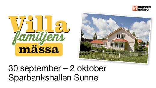 Bild för Villafamiljens mässa i Sunne, 2016-09-30, Sparbankshallen i Sunne