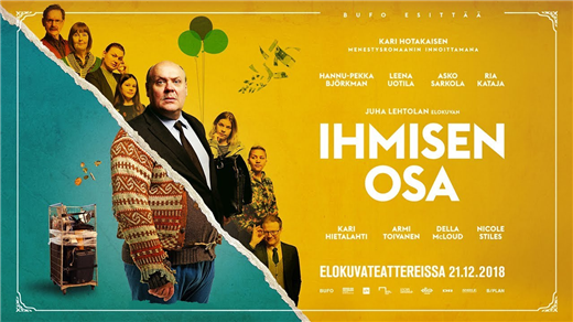 Bild för Bio: Ihmisen osa / Människans lott, 2020-04-15, Kulturhuset Finspång, Stora Salongen