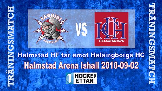 Bild för Träningsmatch Hammers vs. Helsingborgs HC, 2018-09-02, Halmstad Arena