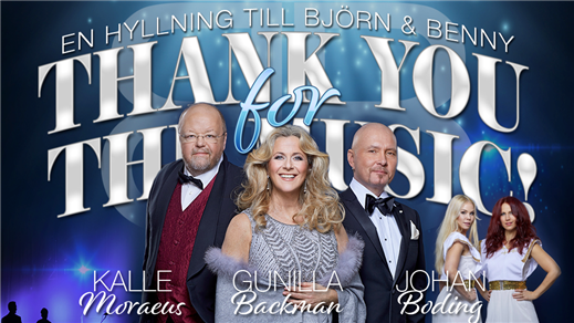 Bild för THANK YOU FOR THE MUSIC - En hyllning till B & B, 2019-11-01, Konserthusteatern