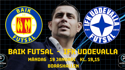 Bild för BAIK Futsal - IFK Uddevalla Futsal, 2019-02-11, Boråshallen