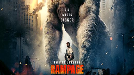 Bild för Rampage - Big Meets Bigger    Premiär, 2018-04-13, Biosalongen Folkets Hus