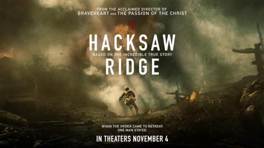 Bild för Hacksaw Ridge (Sal.2 15år Kl.20:30 2h 19m), 2016-11-13, Saga Salong 2
