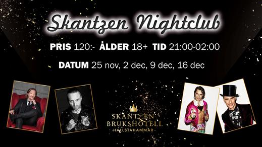 Bild för Lördagar på Skantzen Nightclub, 2017-11-25, Skantzen Brukshotell