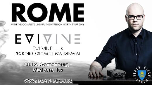 Bild för Rome & Evi Vine i Göteborg, 2016-12-08, Musikens Hus