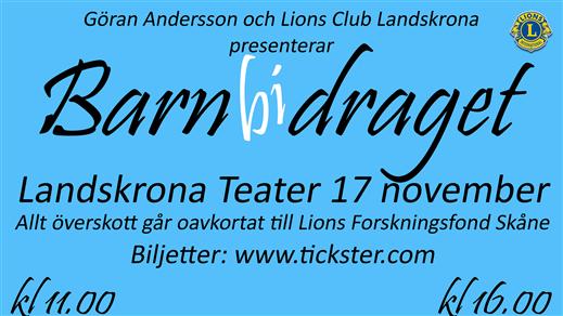 Bild för Barnbidraget 16:00, 2018-11-17, Landskrona Teater