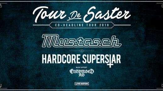 Bild för Mustasch, Hardcore Superstar, Entombed A.D. + Vojd, 2018-03-09, Nöjesfabriken