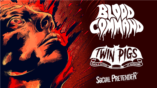Bild för Blood Command + Twin Pigs + Social Pretender, 2019-04-26, Sticky Fingers