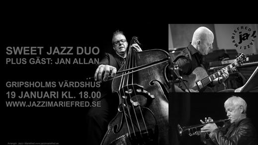 Bild för Sweet Jazz Duo + Jan Allan, 2020-01-19, Gripsholms värdshus