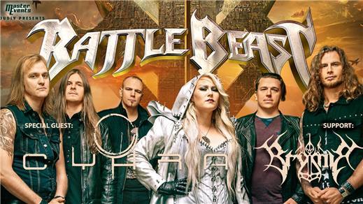 Bild för Battle Beast + Cyhra + Brymir, 2019-11-15, Nöjesfabriken