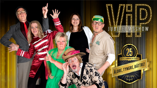 Bild för VIP JUBILEUMSSHOW 6/1, 2017-01-06, Hebeteatern, Folkets Hus Kulturhuset