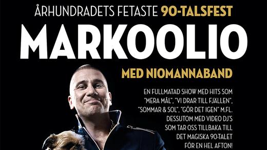Bild för MARKOOLIO & 90-TALSFEST, 2016-11-11, The Tivoli