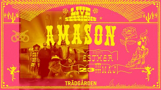 Bild för Live Sessions: Amason & Esther, 2020-08-15, Trädgården