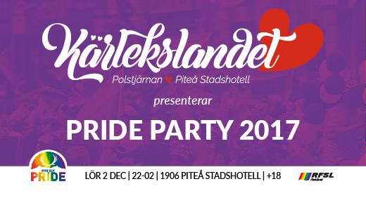 Bild för Pride party - Pite Älv Pride 2017, 2017-12-02, 1906 PITEÅ STADSHOTELL