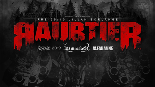 Bild för Raubtier + Support: Utmarken & Alfahanne på Liljan, 2019-10-25, Liljan