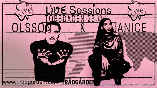 Bild för Live Sessions: Janice och Olsson, 2018-07-26, Trädgården