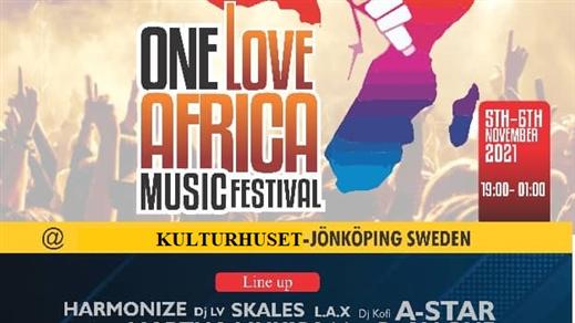 Bild för One Love African Music Festival, 2021-11-05, Kulturhuset Jönköping