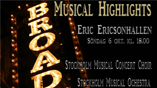 Bild för Stockholm Musical Concert, 2019-10-06, Eric Ericsonhallen-Skeppsholmskyrkan