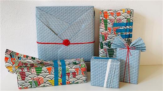 Bild för Japansk paketinslagning - digitalkurs, 2021-03-21, Världskulturmuseet