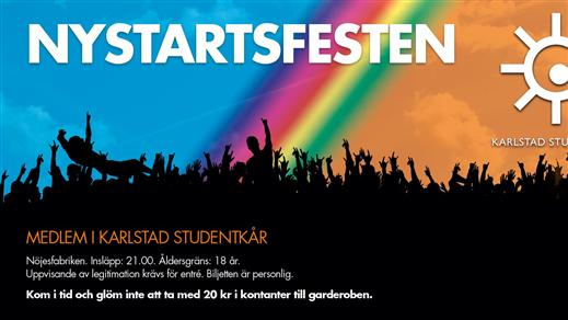 Bild för Nystartsfesten 2017, 2017-02-03, Nöjesfabriken