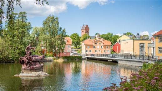 Bild för Cykelguidning från Torshälla till Eskilstuna, 2019-07-18, Torshälla kyrka