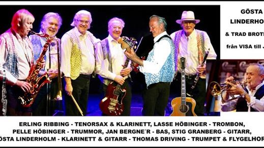 Bild för Gösta Linderholm & Trad Brothers, 2019-10-16, Musikföreningen Crescendo