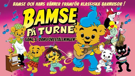 Bild för BAMSE PÅ TURNÉ - Sång & Dansföreställningen, 2018-10-07, Wisby Strand