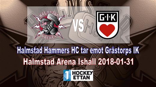 Bild för Halmstad Hammers HC - Grästorps IK, 2018-01-31, Halmstad Arena