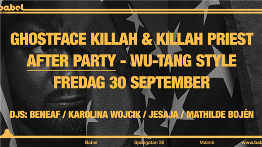 Bild för AFTER PARTY // Wu-Tang Style, 2016-09-30, Babel