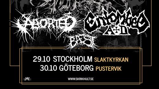 Bild för Entombed AD + Aborted, 2019-10-30, Pustervik