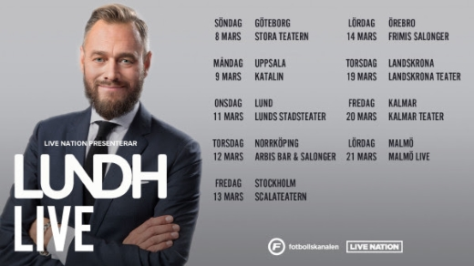 Bild för LUNDH LIVE - OLOF LUNDH PÅ PODTURNÉ, 2020-09-08, Frimis Salonger Örebro