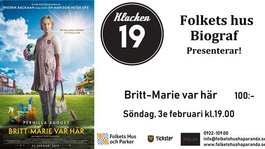 Bild för Britt-Marie Var Här, 2019-02-03, Biosalongen Folkets Hus