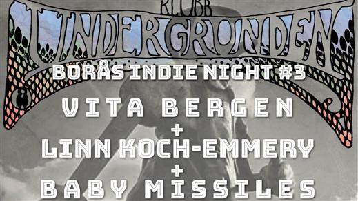 Bild för Vita Bergen & Linn Koch-Emmery & Baby Missiles, 2019-04-27, Klubb Undergrunden