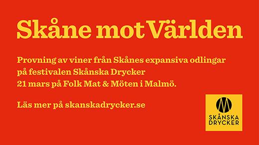 Bild för Vinprovning Skåne mot Världen, 2020-03-21,  Folk Mat & Möten Skånska Drycker