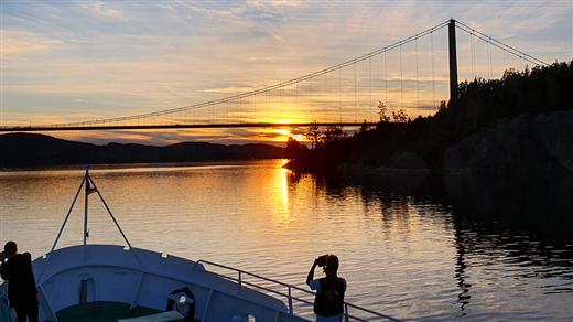 Bild för Kvällstur från Härnösand, 2021-07-29, Ådalen III Skeppsbrokajen