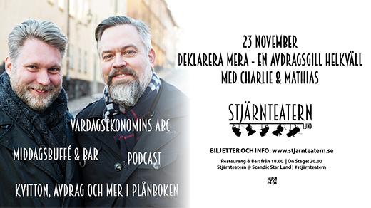 Bild för Deklarera mera med Charlie & Mathias, 2018-11-23, Stjärnteatern