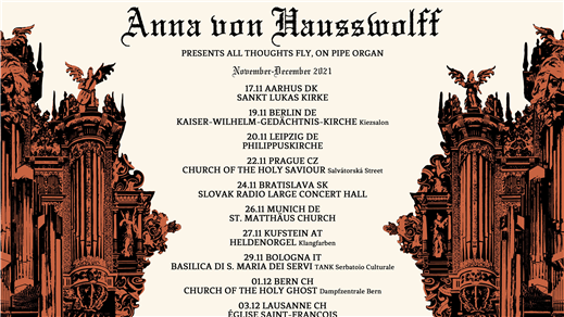 Bild för ANNA VON HAUSSWOLFF presents All Thoughts Fly...., 2021-12-18, Gustav Adolfs Kyrka