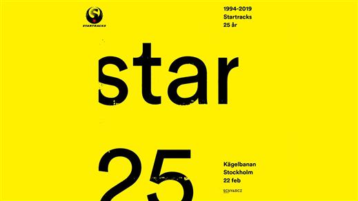 Bild för Startracks 25 år, 2019-02-22, Kägelbanan Södra Teatern