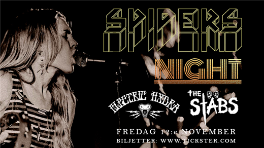 Bild för SPIDERS / Night / Electric Hydra / The Stäbs, 2021-11-12, The Crypt LKPG