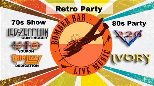 Bild för Bomber Bar Retro Party 70-80s, 2018-09-28, Bomber Bar Motala