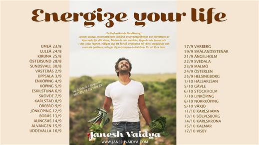 "Bild för Janesh Vaidya - ""Energize your life"", 2017-08-23, Sverigeturné"