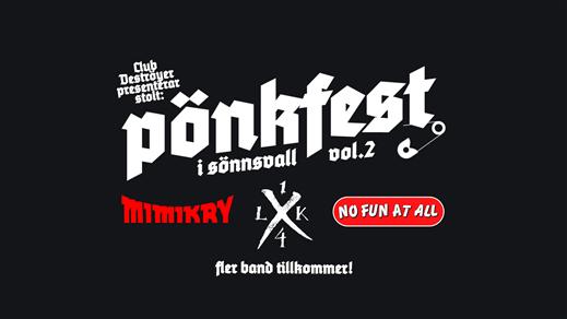 Bild för Pönkfest vol. 2, 2020-03-14, Club Deströyer