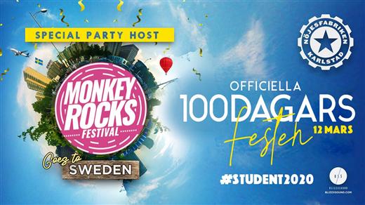 Bild för Officella 100dagars-festen, 2020-03-12, Nöjesfabriken