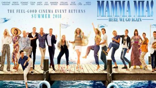 Bild för Mamma Mia! Here We Go Again  Premiär, 2018-07-20, Biosalongen Folkets Hus