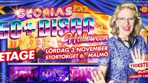 Bild för Glorias 50+ DISCO MALMÖ 3 nov 2018, 2018-11-03, Étage
