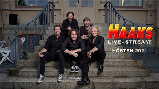 Bild för HAAKS: LIVE + STREAM, 2021-10-29, Hebeteatern, Folkets Hus Kulturhuset