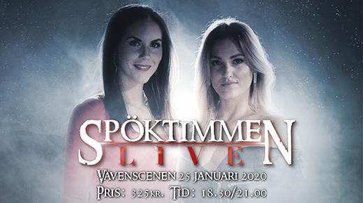 Bild för Spöktimmen LIVE - föreställning 21.00, 2020-01-25, Vävenscenen