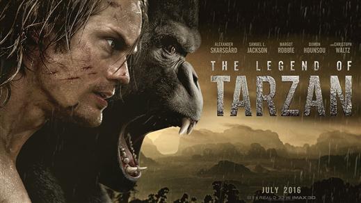 Bild för Legenden om Tarzan (Sal1 fr11 Kl.21:30 1h50min), 2016-09-20, Saga Salong 1