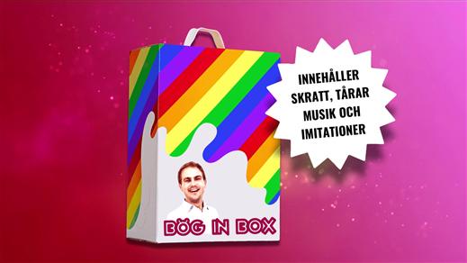 Bild för Standupföreställning: Bög In Box, 2020-03-28, Kulturhuset Finspång, Stora Salongen