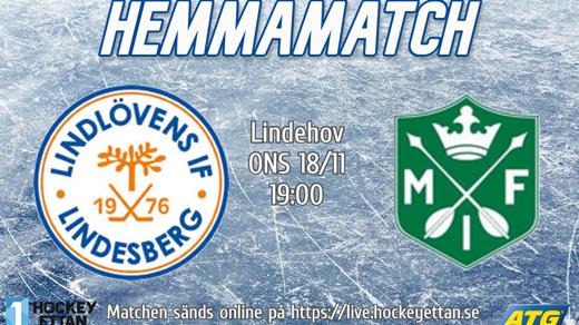 Bild för Lindlöven vs. Malung, 2020-11-18, Lindehov
